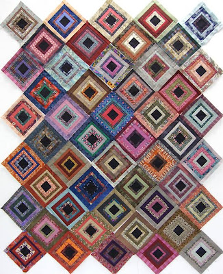 God's Eye Quilt by Robin Atkins, arrangement of 50 blocks, quilt #2