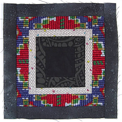God's Eye Quilt, block 6, by Robin Atkins