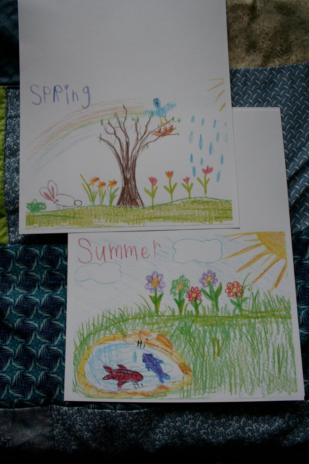 Pink And Green Mama Homemade Gift Four Seasons Notecards