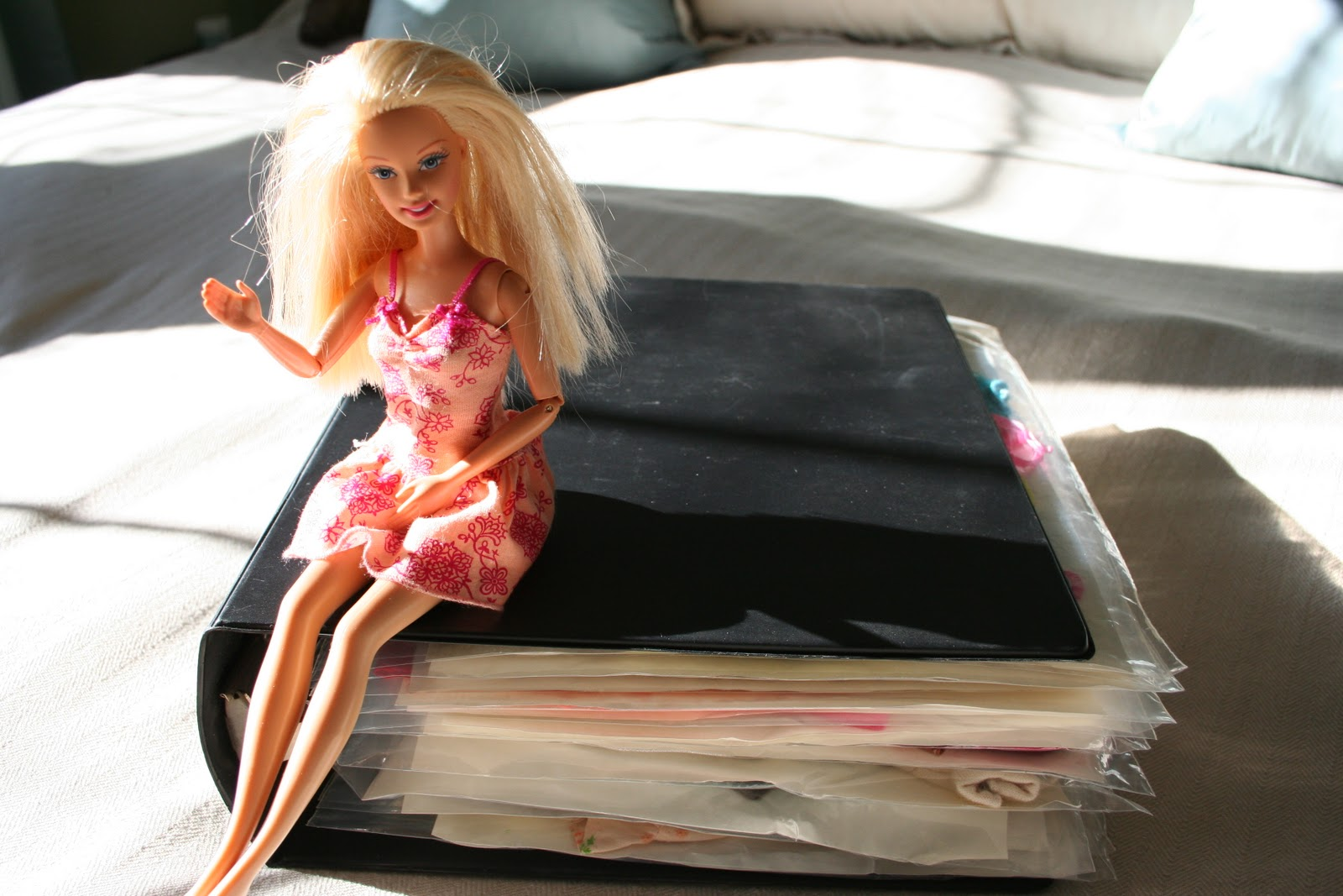 Pink And Green Mama Getting Organized Storing Barbie Doll Clothing
