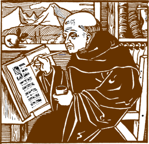 Resultado de imagen para monje escribiendo