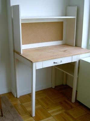 diy simple desk with hutch