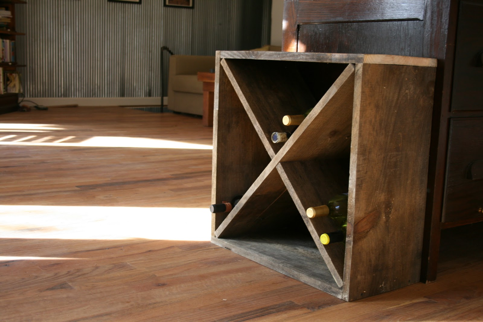 Slide Your Inside Pieces Together And Then Put Them In Wooden Square You Should Now Have A Diamond Shaped Wine Rack That Holds About 45 50 Bottles