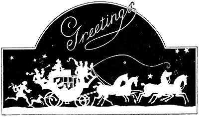 Seasons Greetings Horse Drawn Carriage