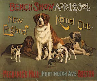 Credit Line: Library of Congress, Prints & Photographs Division, [reproduction number, LC-USZC4-12542], Bench show. New England Kennel Club.
