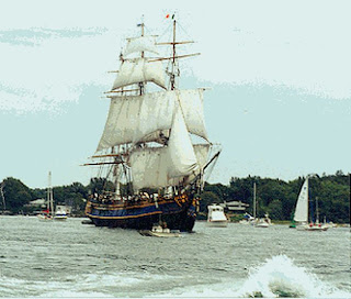 The HMS Bounty visits Portsmouth Harbor, Summer 1999. USCG Station Portsmouth Harbor