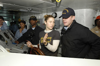 Jessica Biel, U.S. Navy photo by Photographer's Mate 3rd Tyler J. Clements (RELEASED)