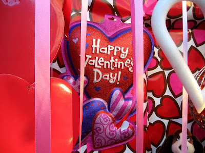 Valentine's Day Hearts and Streamers