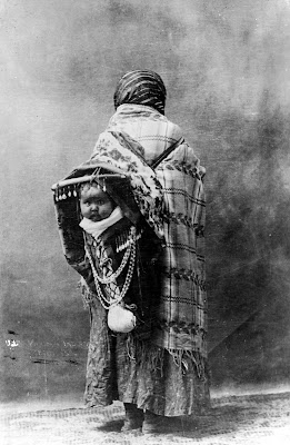 Yakama Native American Mother and Child