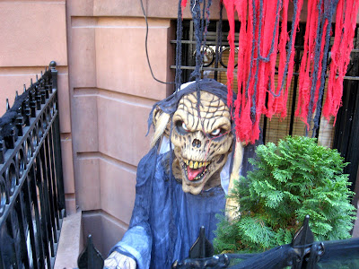 Halloween Haunted House Demons Guard the Entrance