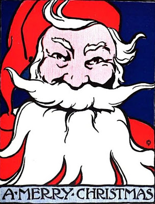 Vintage Santa Claus A Merry Christmas