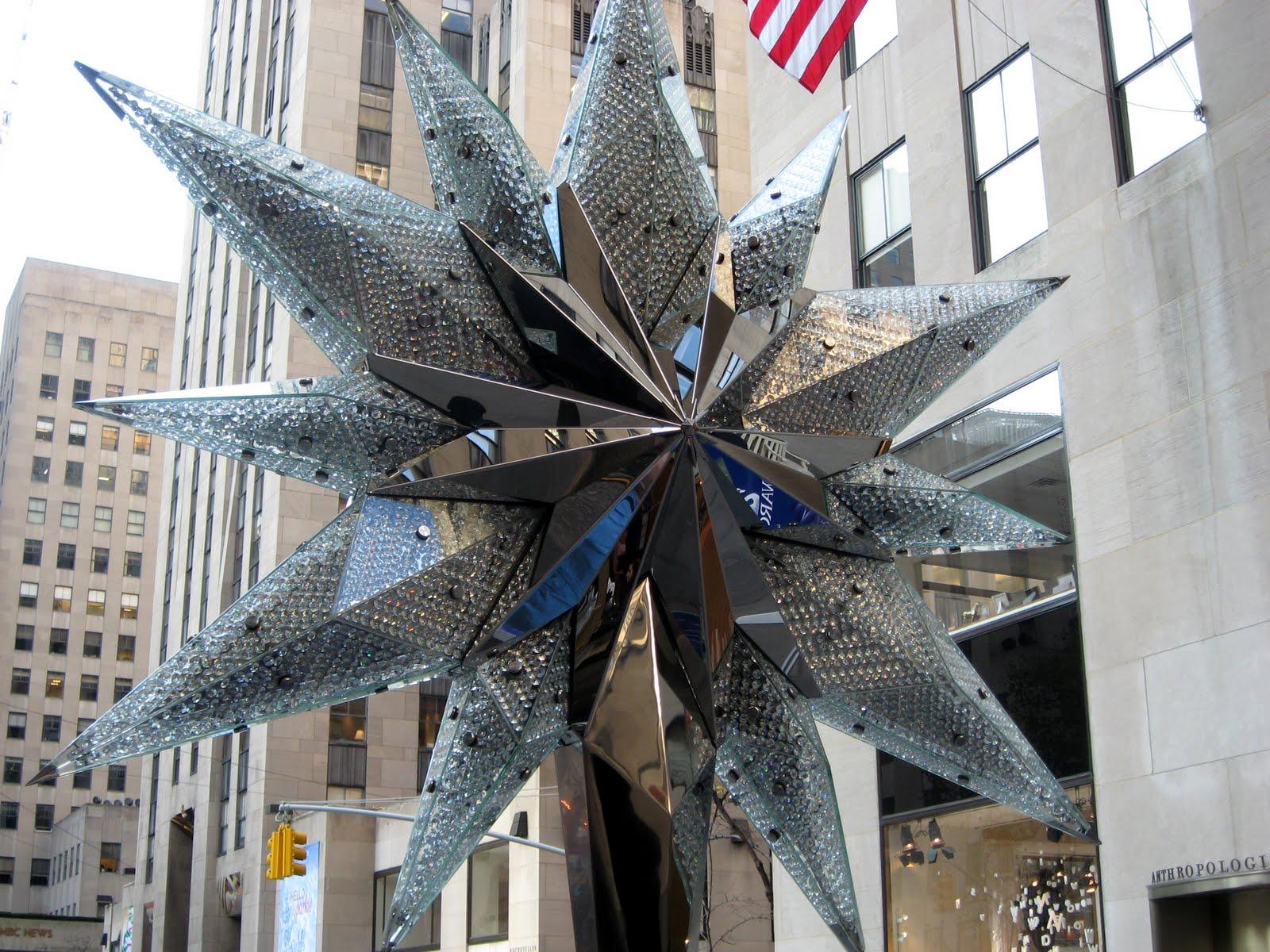 Rockefeller Center Christmas Tree Star Public Domain Clip Art Photos