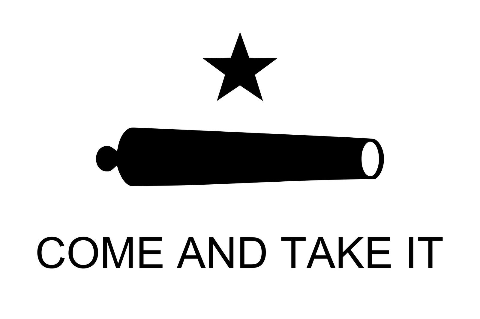 Texas Flag Come and Take It
