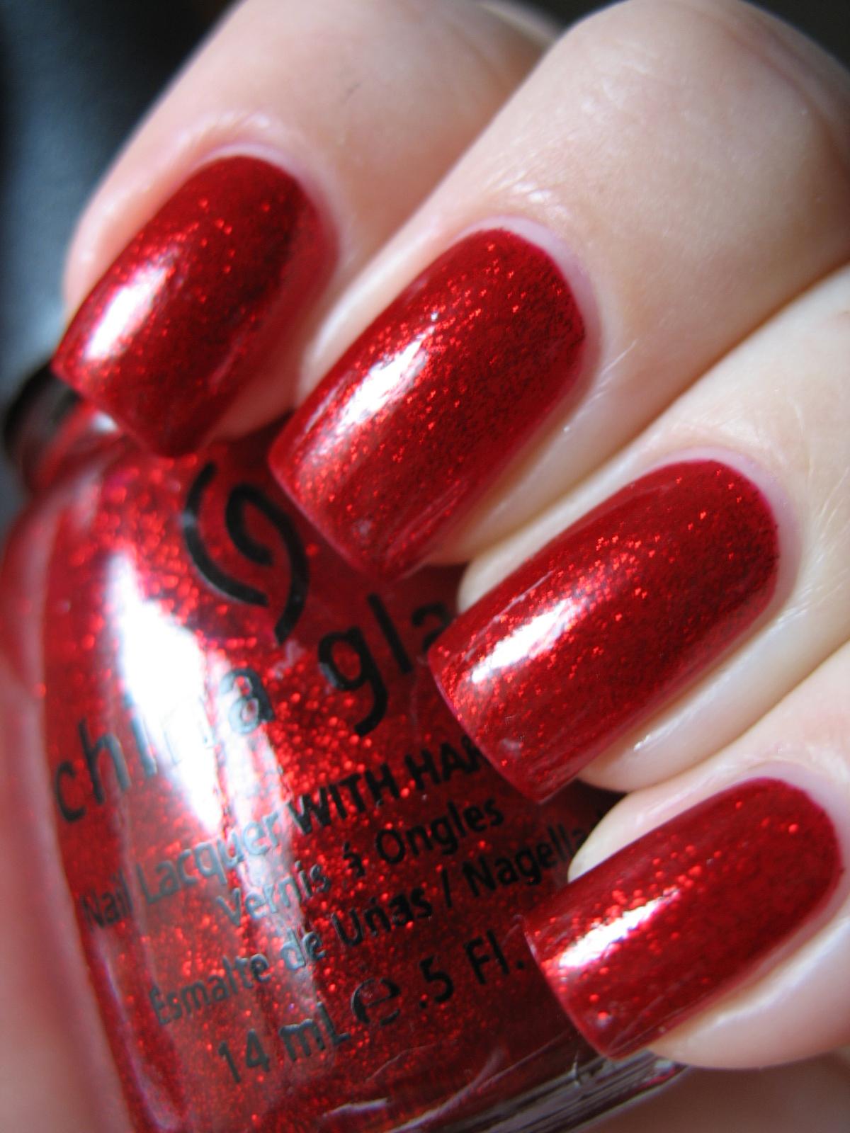 China Glaze Presenta Crakle Glaze: Kiss My Acetone: China Glaze Ruby Pumps