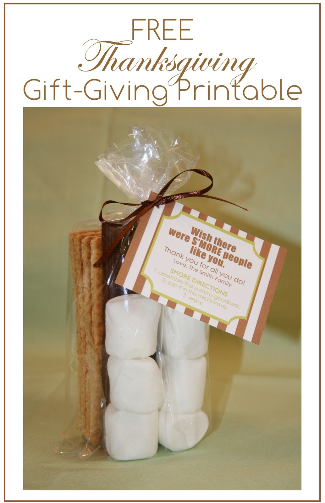 Free Thanksgiving Gift Giving Printable At Home With Natalie
