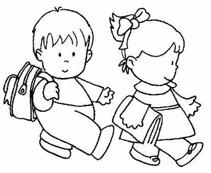 Imagen Para Colorear De Niños En La Escuela Imagui