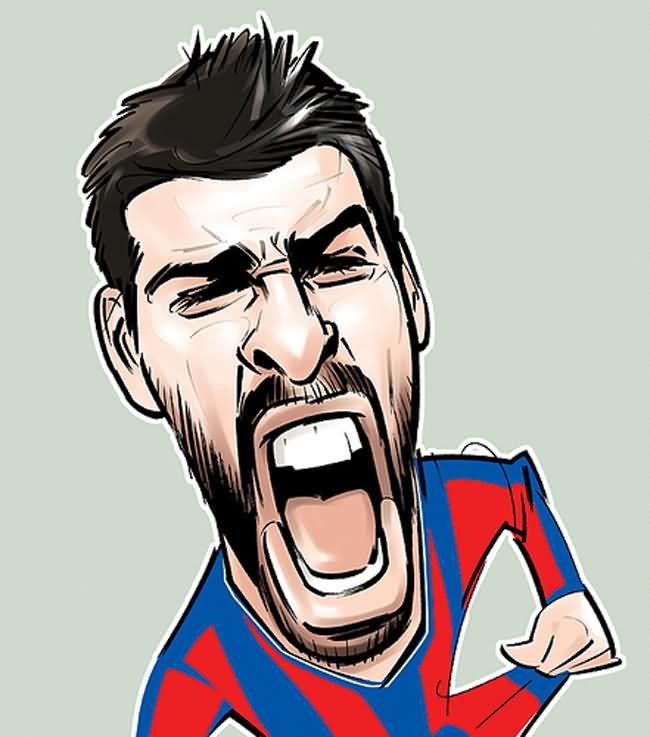 Players Soccer Cartoons of Famouse