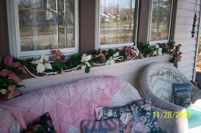 Christine S Cottage Garden Home Pink Christmas Porch