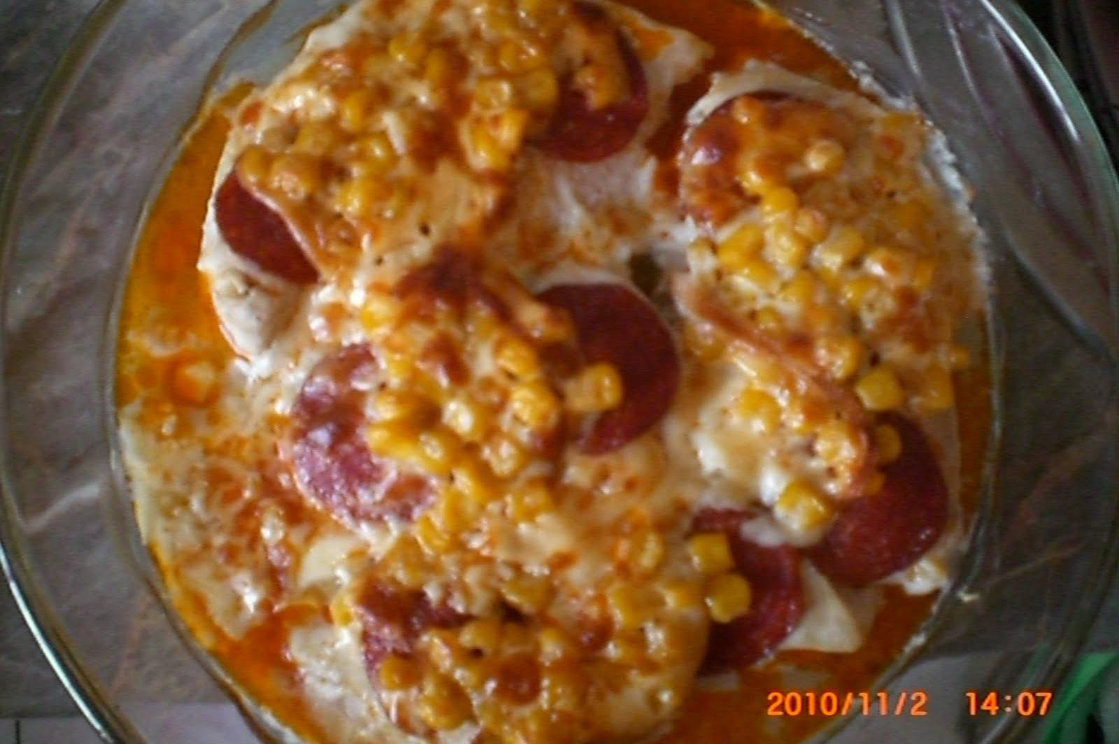 Morzsa diétás receptjei: Sajtos kukoricás sült csirkemell