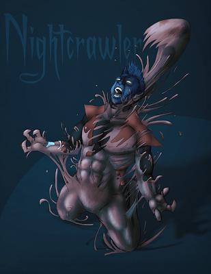 Somewhere Fast: Nightcrawler + symbiote!