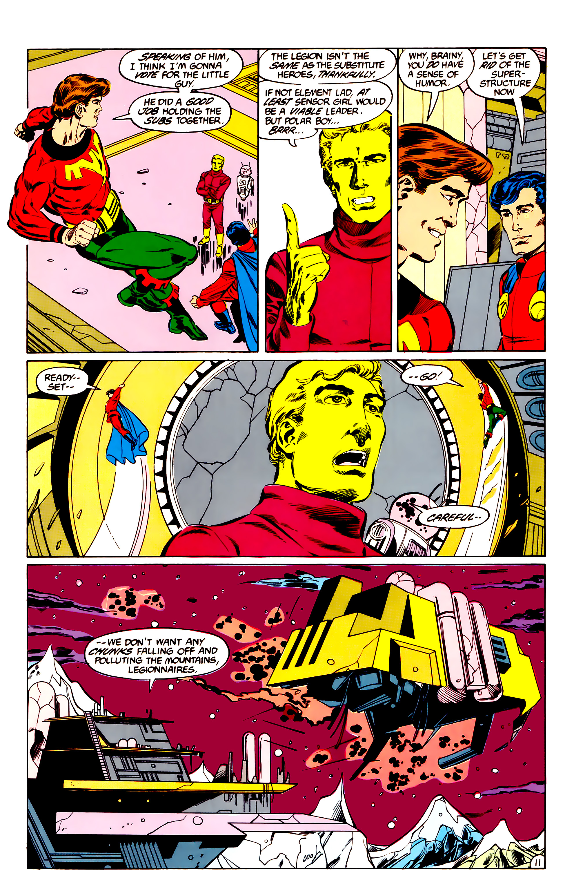 Legion of Super-Heroes (1984) 36 Page 11