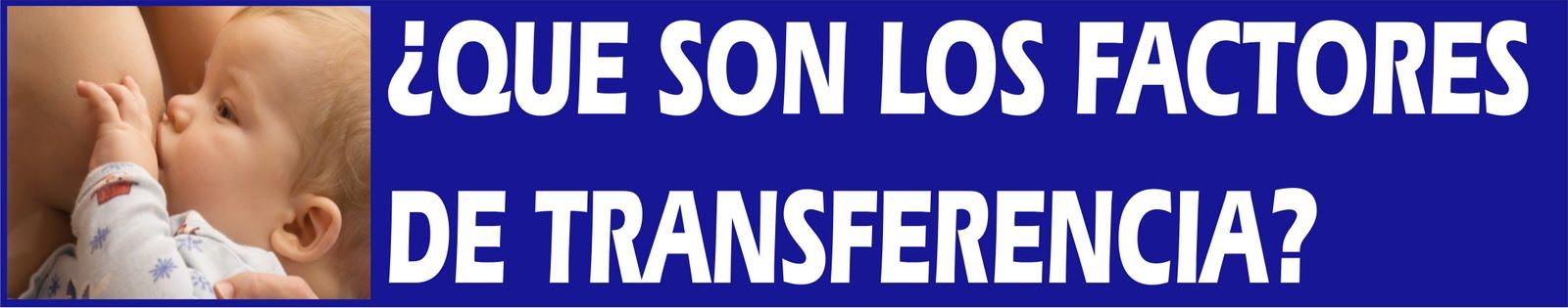 Resultado de imagen de factores de transferencia