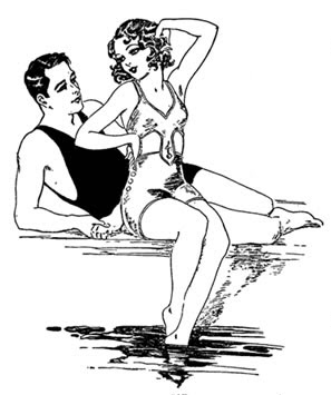 A man and woman in swim suits.