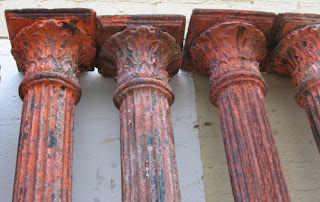 12 Cast Iron Fluted Columns With Decorative Capitals 8 Ft Tall Base 6 Diameter