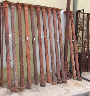 Rare Find Salvaged From New Orleans 12 Cast Iron Fluted Columns With Decorative Capitals