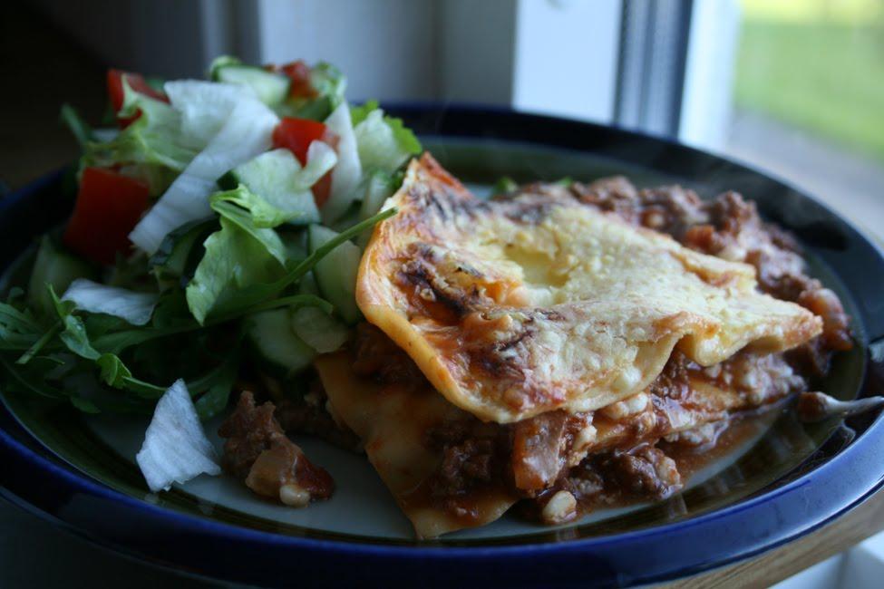 lasagne med köttfärs