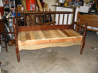 how to make a headboard bench