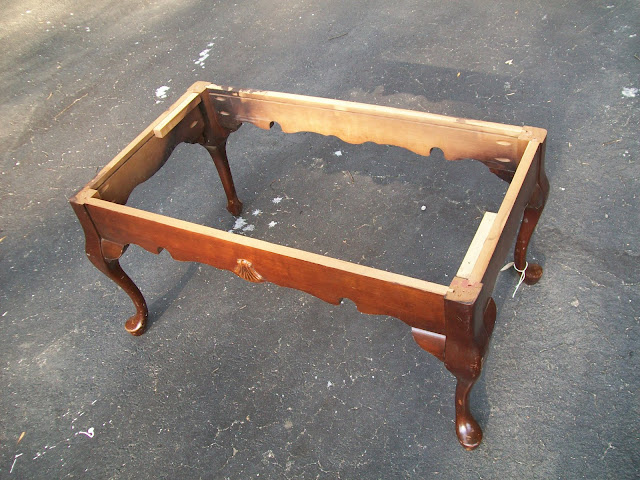 coffee table into bench - my repurposed life™