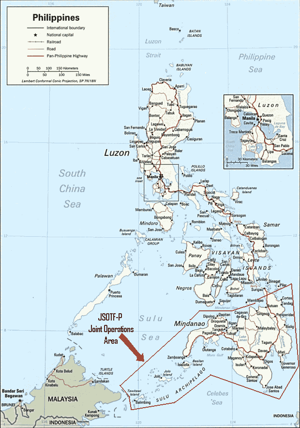 JSOTF-P operational area