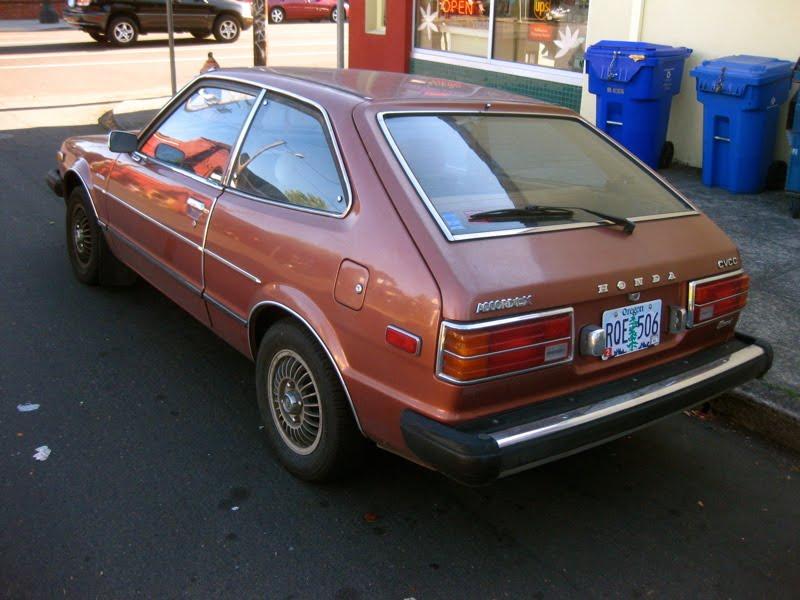 OLD PARKED CARS.: 1979 Honda Accord LX CVCC Hatchback.