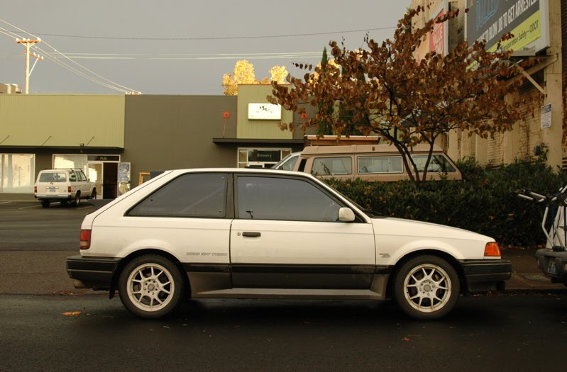 Who Owns Mazda >> OLD PARKED CARS.: 1988 Mazda 323 GTX Turbo 4wd.