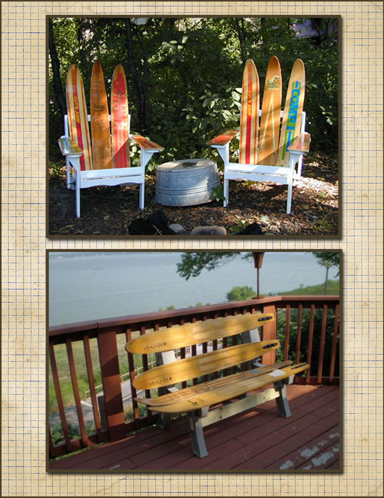 Water Ski Chair Seibels Cottage Decorating With Vintage Water Skis