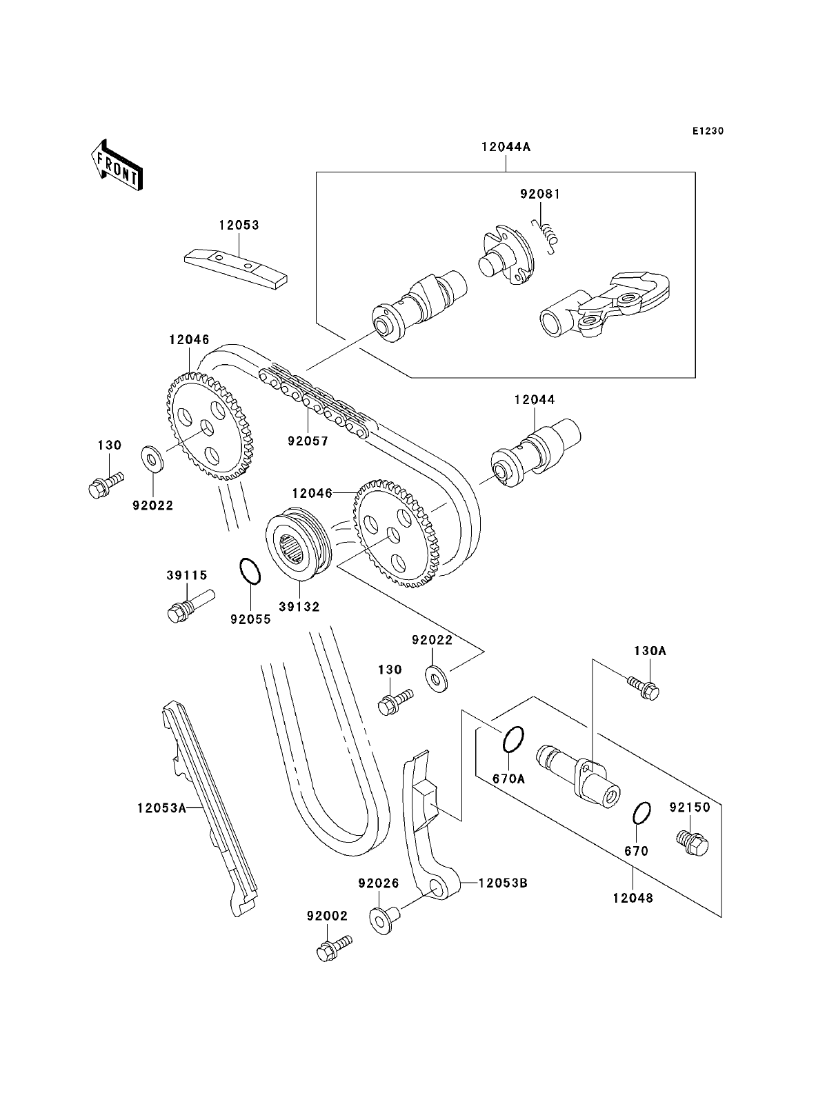Kawasaki KLR250: Kawasaki KLR250 Parts Diagrams