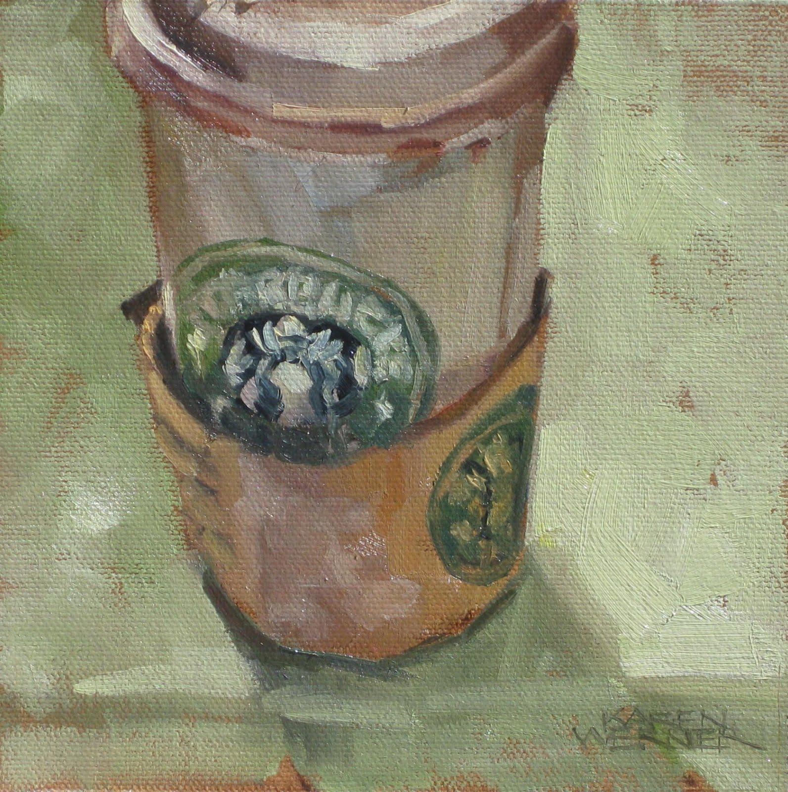 Karen Werner Fine Art: Starbucks Cup SOLD