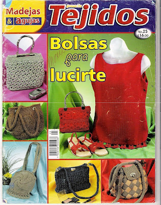 Revista: Tejidos No. 25. Bolsas para lucirte