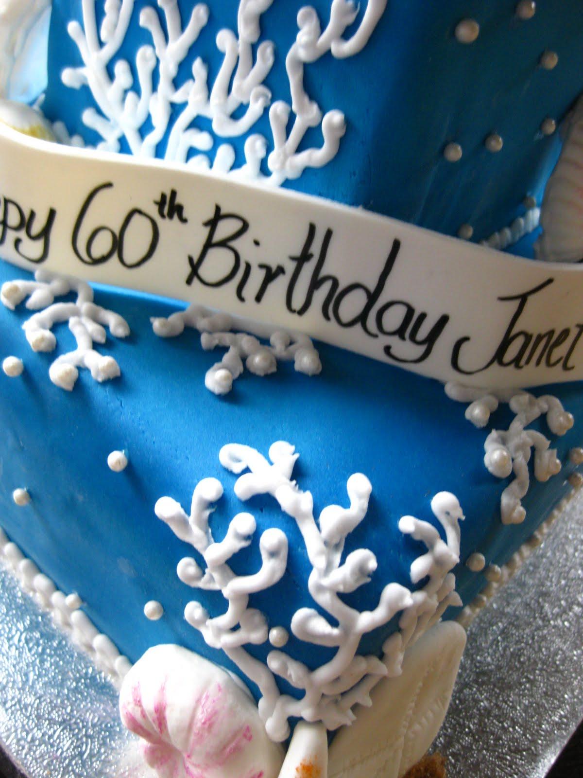 Roxiecakes Vancouver Ocean Themed Birthday Cake