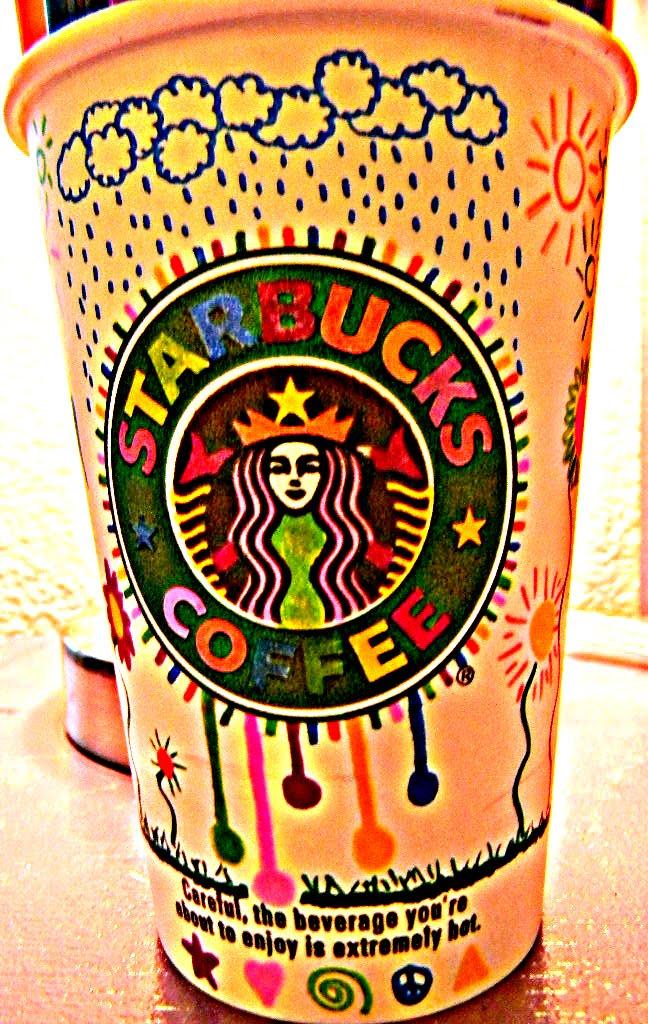 Regan S Camera 6th Blog Award Decorated Starbucks Cup