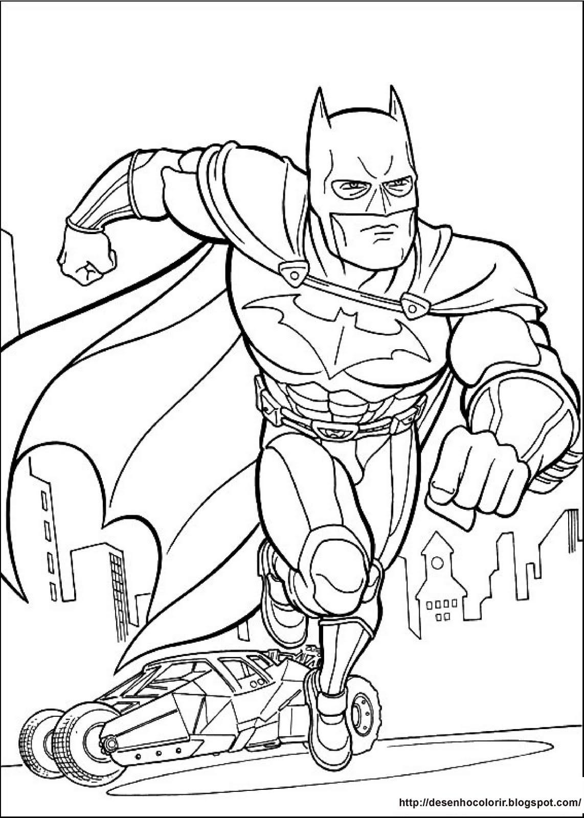 Desenhos Para Colorir Batman 9 Desenhos Para Colorir