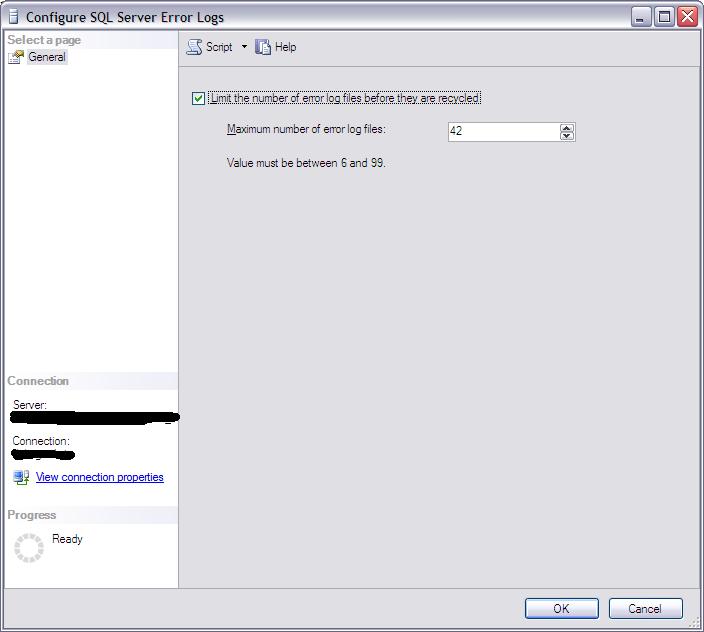Error Log: SQLAdmin: Cycle SQL Server Errorlog