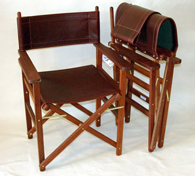 Rugged Luxury Leather Directors Chair