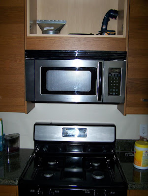 Jeff's Home Renovation: Installing a Microwave Over the Stove