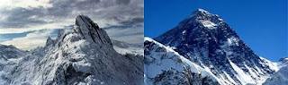 Carstensz Pyramid dengan Mount Everest