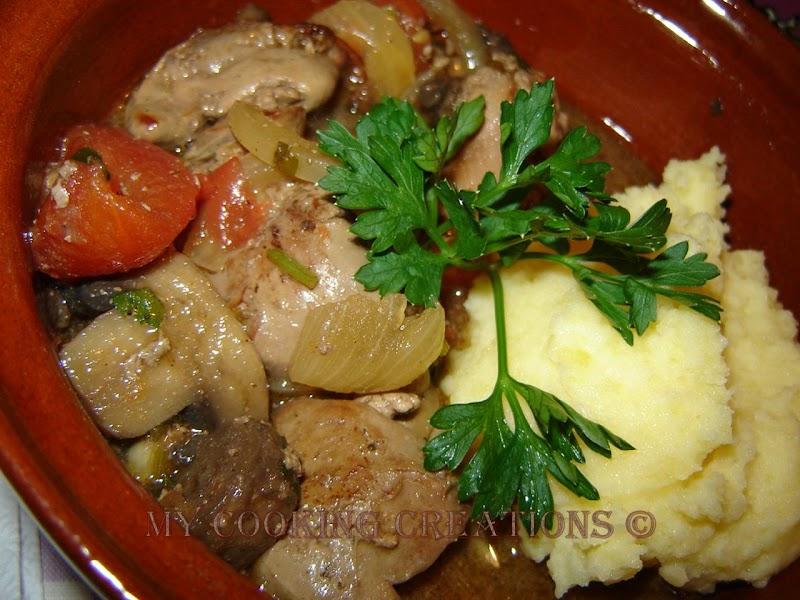 Пилешки дробчета с гъби * Fegato di pollo con funghi