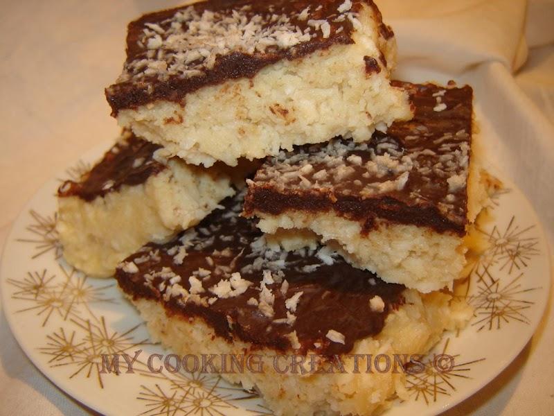 Бърз десерт с кокос без печене * Mattonella cocco senza cottura