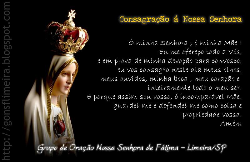 Nossa Senhora Aparecida Nossa Senhora De Fatima: GRUPO DE ORAÇÃO NOSSA SENHORA DE FÁTIMA