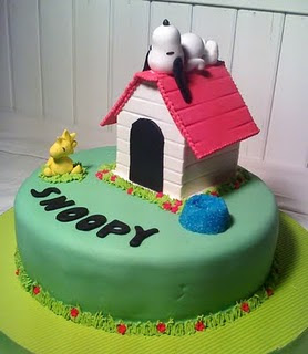 Birthday Cake Snoopy Cakes